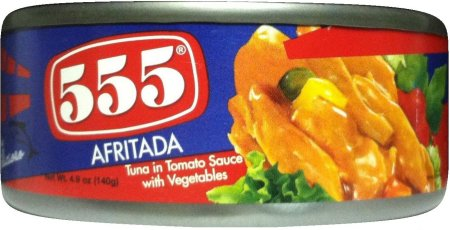 555 TUNA IN TOMATO SAUCE WITH VEGETABLES AFRITADA STYLE