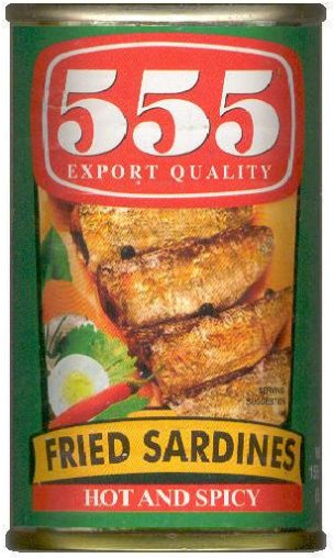555 FRIED SARDINES HOT AND SPICY