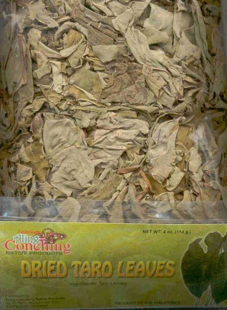ALING CONCHING DRIED TARO LEAVES