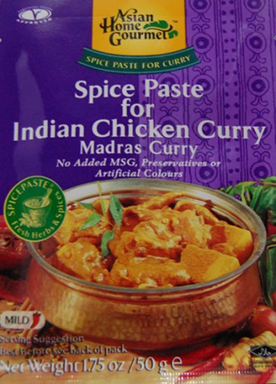 ASIAN HOME GOURMET CHICKEN CURRY MADRAS CURRY