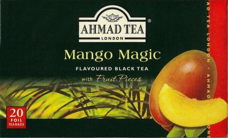 AHMAD TEA MANGO MAGIC FLAVOURED BLACK TEA WITH FRUIT PIECES