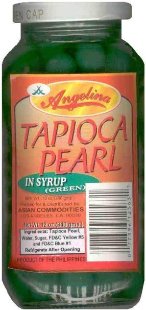 ANGELINA TAPIOCA PEARL SAGO IN SYRUP GREEN