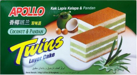 APOLLO COCONUT & PANDAN TWINS LAYER CAKE