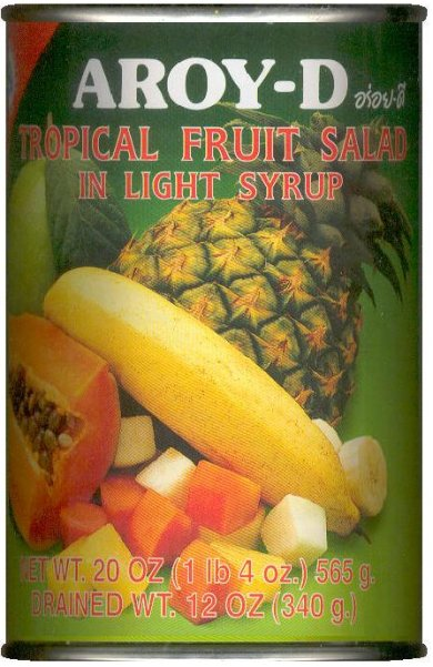 AROY-D TROPICAL FRUIT SALAD IN LIGHT SYRUP