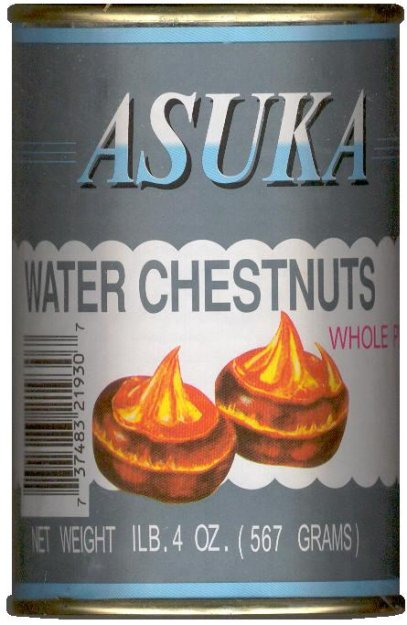 ASUKA WATER CHESTNUTS WHOLE PEELED