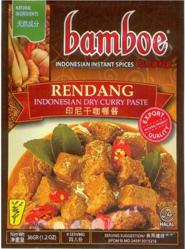 BAMBOE RENDANG INDONESIAN DRY CURRY PASTE FOR BEEF STEW