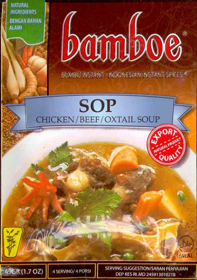 BAMBOE SOP CHICKEN/BEEF/OXTAIL SOUP