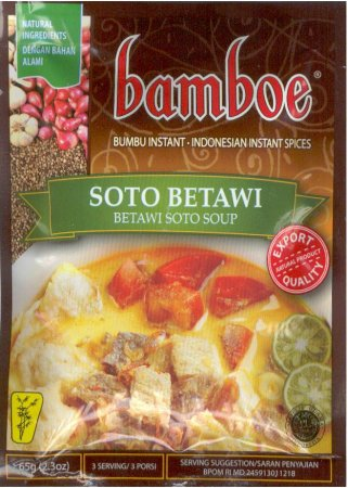 BAMBOE SOTO BETAWI INDONESIAN BEEF SOUP