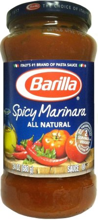 BARILLA SPICY MARINARA ALL NATURAL PASTA SAUCE