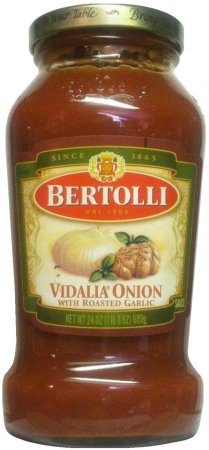 BERTOLLI VIDALIA ONION SAUCE WITH ROASTED GARLIC