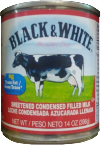 BLACK & WHITE SWEETENED CONDENSED FILLED MILK