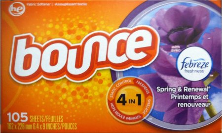 BOUNCE WITH FABREZE SCENT SPRING & RENEWAL FABRIC SOFTENER SHEET