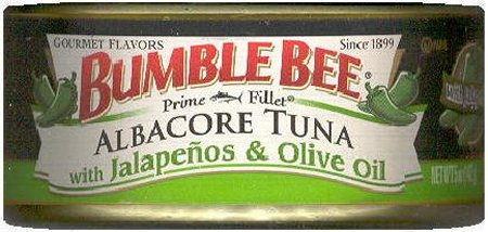 BUMBLE BEE ALBACORE TUNA WITH JALAPENOS & OLIVE OIL
