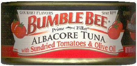 BUMBLE BEE ALBACORE TUNA WITH SUNDRIED TOMATOES & OLIVE OIL