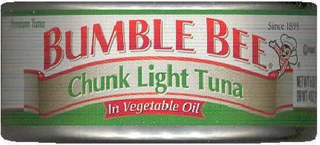 BUMBLE BEE CHUNK LIGHT TUNA IN VEGETABLE OIL