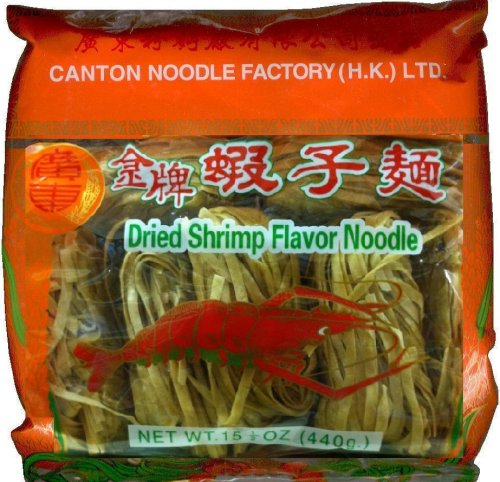 CANTON NOODLE FACTORY DRIED SHRIMP FLAVOR NOODLE WIDE FLAT