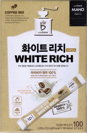 CAFFE BENE MANO WHITE RICH COFFEE MIX