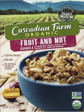 CASCADIAN FARM FRUIT AND NUT GRANOLA
