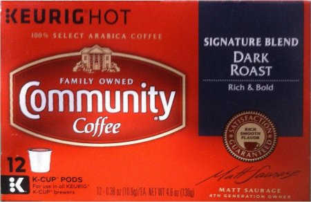 COMMUNITY COFFEE SIGNATURE BLEND DARK ROAST K-CUP PODS