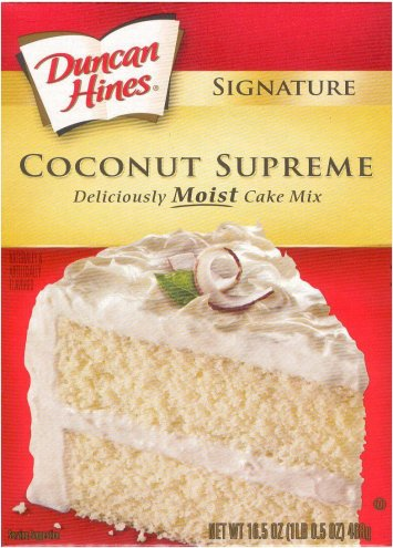 DUNCAN HINES COCONUT SUPREME MOIST CAKE MIX