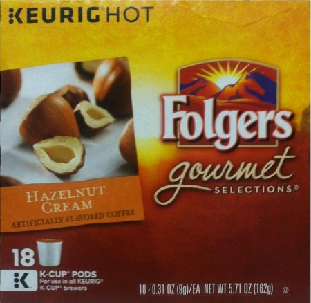FOLGERS GOURMET SELECTIONS HAZELNUT CREAM COFFEE K-CUP