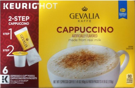 GEVALIA KAFFE CAPPUCCINO K-CUP PODS
