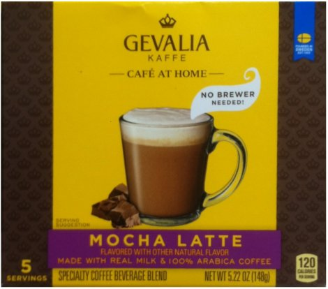 GEVALIA KAFFE CAFE' AT HOME MOCHA LATTE