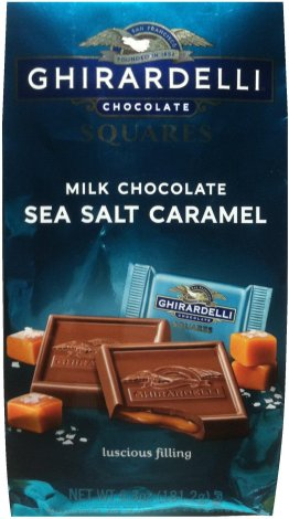 GHIRARDELLI SQUARES MILK CHOCOLATE SEA SALT CARAMEL