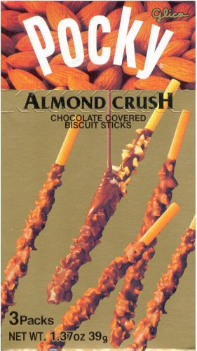 POCKY ALMOND CRUSH CHOCOLATE COVERED BISCUIT STICKS