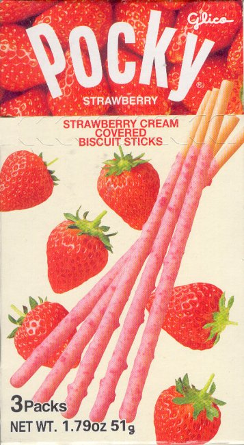 POCKY STRAWBERRY CREAM COVERED BISCUIT STICKS