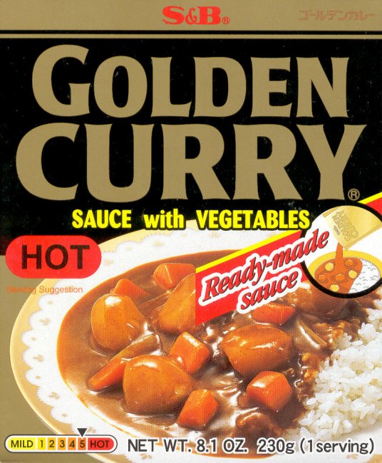 GOLDEN CURRY SAUCE WITH VEGETABLES HOT