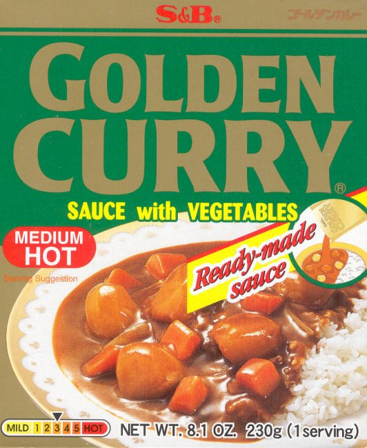 GOLDEN CURRY SAUCE WITH VEGETABLES MEDIUM HOT
