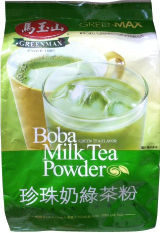GREENMAX BOBA MILK TEA POWDER GREEN TEA FLAVOR
