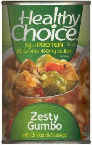 HEALTHY CHOICE ZESTY GUMBO WITH CHICKEN & SAUSAGE SOUP