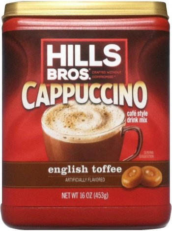 HILLS BROS. CAPAUCCINO ENGLISH TOFFEE FLAVORED CAFE STYLE MIX