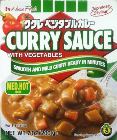 HOUSE FOODS JAPANESE STYLE CURRY SAUCE W/ VEGETABLES MEDIUM HOT