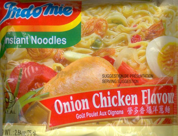 INDOMIE ONION CHICKEN FLAVOR NOODLES