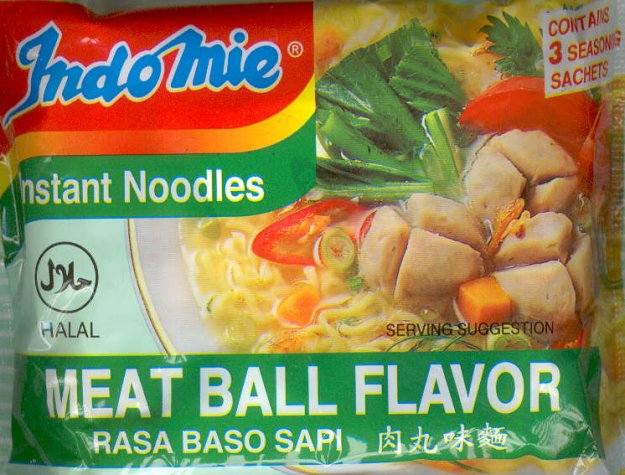 INDOMIE MEAT BALL FLAVOR NOODLES