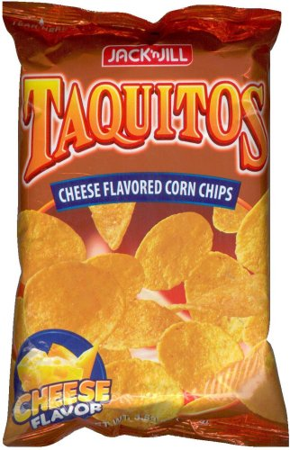 JACK'N JILL TAQUITOS CHEESE FLAVORED CORN CHIPS