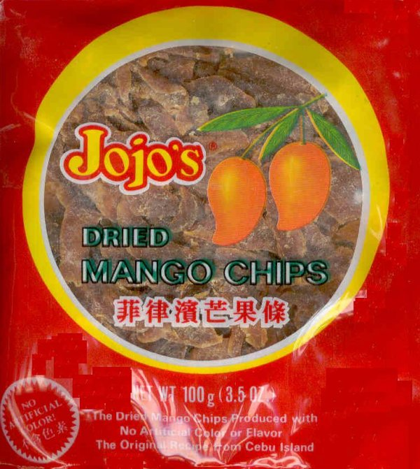 JOJO'S PHILIPPINE DRIED MANGO CHIPS