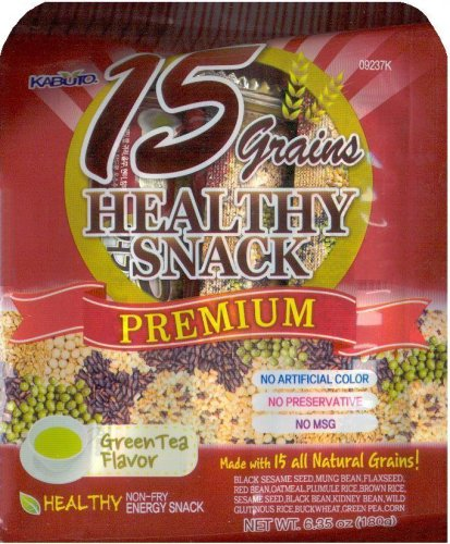 15 GRAINS HEALTHY SNACK GREEN TEA FLAVOR