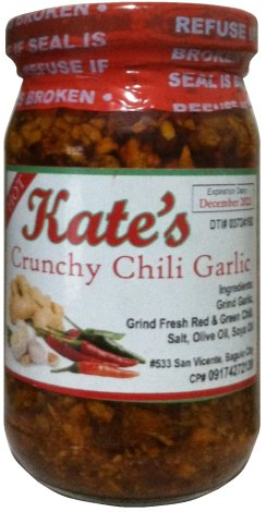 KATE'S CRUNCHY CHILI GARLIC SAUCE HOT