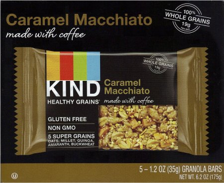 KIND HEALTHY GRAINS CARAMEL MACCHIATO MADE WITH COFFEE