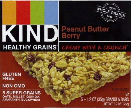 KIND HEALTHY GRAINS PEANUT BUTTER BERRY GRANOLA BARS