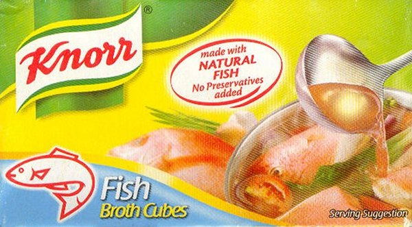 KNORR BOUILLON MIX FISH BROTH CUBES
