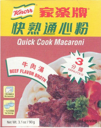 KNORR QUICK COOK BEEF FLAVORED MACARONI