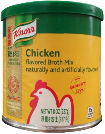 KNORR CHICKEN FLAVORED BROTH MIX NATURALLY & ARTIFICIALLY FLAVOR