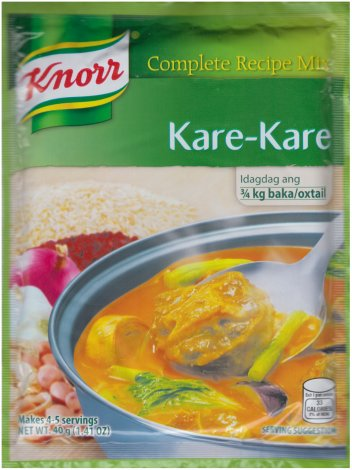 KNORR KARE-KARE COMPLETE RECIPE MIX
