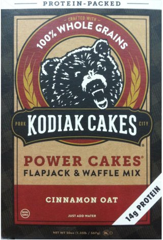 KODIAK CAKES POWER CAKES FLAPJACK & WAFFEL MIX CINNAMON OAT
