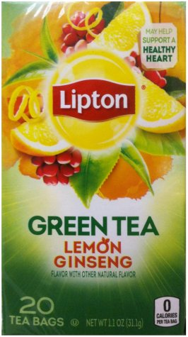 LIPTON GREEN TEA LEMON GINSENG